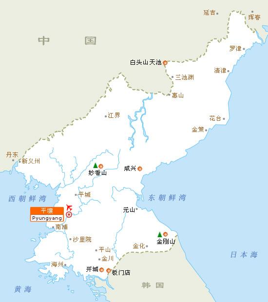 朝鲜景区导航图